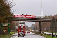 2020-11-21 YesCymru Fly Banners from Bridges