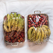 """Wedding from Prabodh Shahi's with Aditi Rana (both are from the Kshetriya tribe).<br /> Preparing """"Saipata"""", a selection of gifts for the bride, done by the Groom's parents.  They all come in pairs, as it is considered auspicious."""