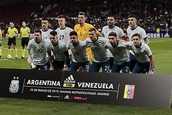 March 22, 2019 - Madrid, Spain - Argentina's team photo during International Adidas Cup match between Argentina and Venezuela at Wanda Metropolitano Stadium. (Credit Image: © Legan P. Mace/SOPA Images via ZUMA Wire)