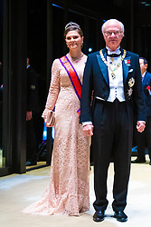 Grand Duke Henri of Luxembourg, Prince Albert II of Monaco, King Willem-Alexander and Queen Maxima of the Netherlands, King Carl Gustaf XI and Crown Princess Victoria of Sweden, King Felipe VI and Queen Letizia of Spain and Prince Haakon of Norway attend the Court Banquet during the Accession to the Throne of His Majesty the Emperor of Japan Naruhito, at the Imperial Palace in Tokyo, Japan. 22 Oct 2019 Pictured: Grand Duke Henri of Luxembourg, Prince Albert II of Monaco, King Willem-Alexander and Queen Maxima of the Netherlands, King Carl Gustaf XI and Crown Princess Victoria of Sweden, King Felipe VI and Queen Letizia of Spain and Prince Haakon of Norway. Photo credit: MEGA TheMegaAgency.com +1 888 505 6342