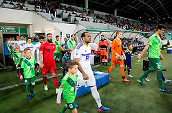 Matko Obradovic of Maribor, Marcos Tavares of Maribor, Rok Vodisek of NK Olimpija, Nemanja Mitrovic of NK Olimpija during 1st Leg football match between NK Olimpija Ljubljana and NK Maribor in Semifinal of Slovenian Football Cup 2016/17, on April 5, 2017 in SRC Stozice, Ljubljana, Slovenia. Photo by Vid Ponikvar / Sportida