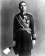 Hirohito (1901-1989)  124th Emperor of Japan (1926-1989).  Three-quarter length portrait in military uniform when Crown Prince  of Japan, April 1919.