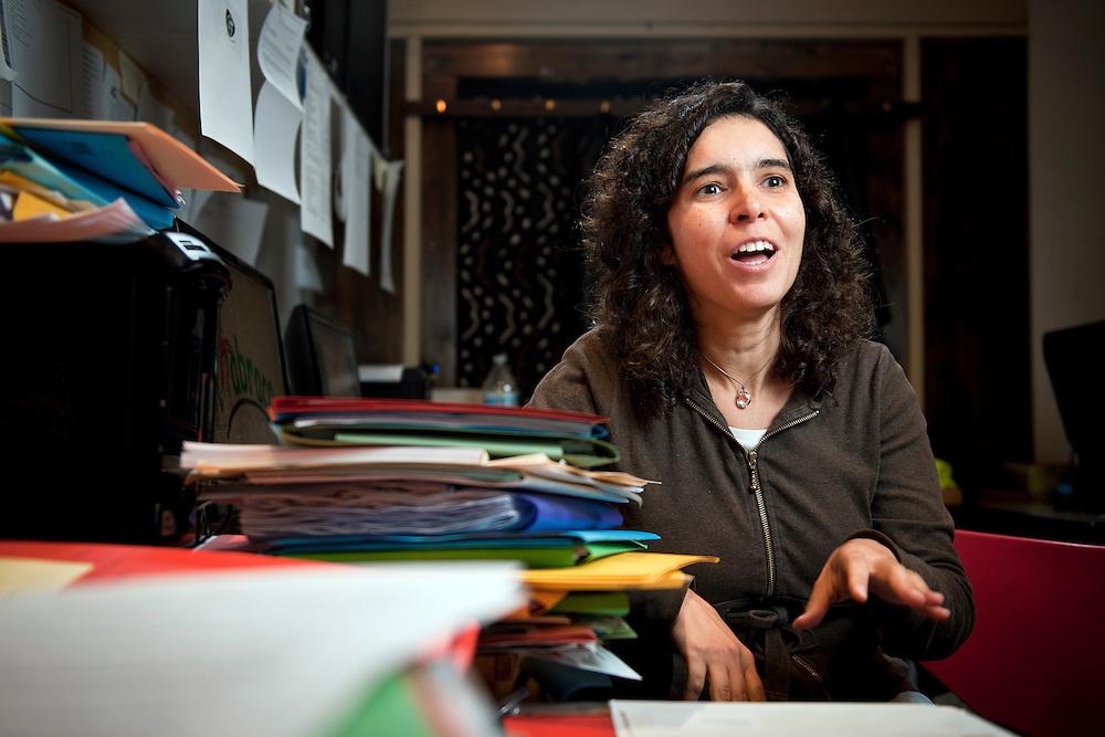 Bruxelles, Belgique 19 Septembre 2011<br /> Portrait de Monica Pereira, Abraço ASBL<br /> Photo: Ezequiel Scagnetti