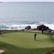 The par 3 7th hole at Pebble Beach.