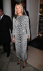 Supermodel Kate Moss arriving at the Marc by Marc Jacobs store in London to sign copies of her new book, Thursday, 15th November 2102.  Photo by: Stephen Lock / i-Images