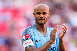 August 5, 2018 - Vincent Kompany of Manchester City celebrates during the 2018 FA Community Shield match between Chelsea and Manchester City at Wembley Stadium, London, England on 5 August 2018. (Credit Image: © AFP7 via ZUMA Wire)