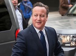 © Licensed to London News Pictures. 08/04/2016. London, UK.  Prime Minister David Cameron arrives for the Conservative Party Spring Forum in central London.  Photo credit: Peter Macdiarmid/LNP