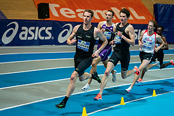 Thijmen Kupers, Djoao Lobles, Bram Buigel in action on the 800 meter during AA Drink Dutch Athletics Championship Indoor on 21 February 2021 in Apeldoorn.