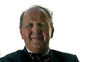 New Scottish literary sensation, Alexander McCall Smith, pictured at the Edinburgh International Book Festival, where he talked about the follow-up to his detective series set in Botswana, the Edinburgh-based series 'The Sunday Philosophers' Club'. The book festival was a part of the Edinburgh International Festival, the largest annual arts festival in the world.