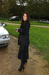AMANDA HARLECH at the wedding of Lucy Ferry to Robin Birley held at Ormsby Lodge, Ham Gate Avenue, Ham, Surrey on 26th October 2006.<br /><br />NON EXCLUSIVE - WORLD RIGHTS