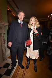 Richard & Basia Briggs at a party to celebrate the publication of The Fatal Tree by Jake Arnott held at The Foundling Museum, 40 Brunswick Square, London, England. 22 February 2017.