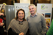 Dermot Lally Ex Ordo  and Norah Casey at the annual SCCUL Enterprise Awards prize giving ceremony and business expo which was hosted by NUI Galway in the Bailey Allen Hall, NUIG. Photo:Andrew Downes