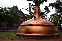 Copper Beer Vat at Sapporo Beer Museum which is the only beer museum in Japan.  The museum gives guests the chance to learn about the history of Sapporo Breweries. as well as the beer industry in Japan. Brewery tours give visitors a chance to sample the brews.
