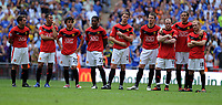 Fotball<br /> England<br /> Foto: Fotosports/Digitalsport<br /> NORWAY ONLY<br /> <br /> A Dejected Manchester United team after defeat<br /> Manchester United 2009/10<br /> Chelsea V Manchester United (2-2) 09/08/09<br /> Chelsea Win (4-1) on Penalties during Penalty Shootout<br /> The FA Community Shield 2009 Wembley Stadium