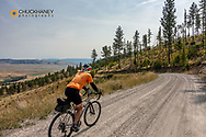 Joe Grabowski gravel bike riding from Polson to Hot Springs, Montana descending the Salish Range USA model released