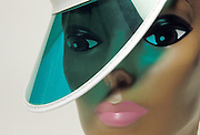 close-up of doll face and visor