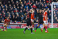 Max Power of Sunderland (27) reacts to his shot been saved during the EFL Sky Bet League 1 match between Barnsley and Sunderland at Oakwell, Barnsley, England on 12 March 2019.