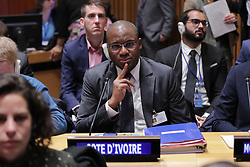 January 30, 2018 - New York, NY, USA - United Nations, New York, USA, January 30 2018 - Sidi Tiemoko Toure Minister of Youth of Cote d' Ivoire during the 2018 Economic and Social Council (ECOSOC) Youth Forum today at the UN Headquarters in New York..Photo: Luiz Rampelotto/EuropaNewswire (Credit Image: © Luiz Rampelotto via ZUMA Wire)