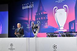 NYON, SWITZERLAND - Monday, December 14, 2020: UEFA Deputy General Secretary Giorgio Marchetti during the UEFA Champions League 2020/21 Round of 16 draw at the UEFA Headquarters, the House of European Football. (Photo Handout/UEFA)