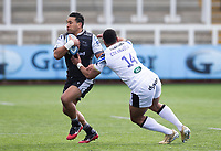 Rugby Union - 2020 / 2021 Gallagher Premiership - Round 13 - Newcastle Falcons vs Bath - Kingston Park<br /> <br /> Cooper Vuna of Newcastle Falcons is tackled by Joe Cokanasiga of Bath<br /> <br /> Credit : COLORSPORT/BRUCE WHITE