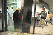 Israel, Jerusalem Wailing Wall. Metal detector at the entrance to the site