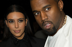 Kim Kardashian and Kanye West front row at the Givenchy Fall-Winter 2013/2014 Ready-To-Wear collection show held at the Halle Fressinet, in Paris, France on March 3, 2013. Photo by Thierry Orban/ABACAPRESS.COM  | 354923_017 Paris France
