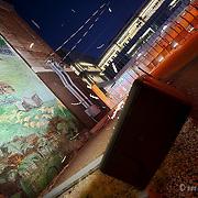 The Town of Kansas mural in the River Market of Kansas City, Missouri.