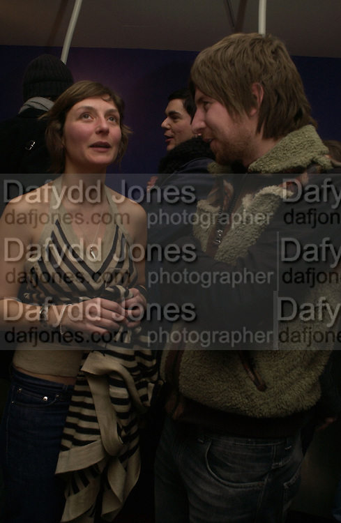 Natasha Law and Steve Wilson. Fashionart.com launch.  51 Frith St, London W1.  7 December  2005.ONE TIME USE ONLY - DO NOT ARCHIVE  © Copyright Photograph by Dafydd Jones 66 Stockwell Park Rd. London SW9 0DA Tel 020 7733 0108 www.dafjones.com
