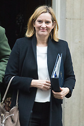 Downing Street, London, December 13th 2016. Home Secretary Amber Rudd leaves the weekly meeting of the cabinet at Downing Street, London.