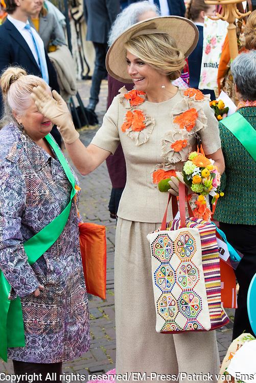 Koningsdag 2019 in Amersfoort / Kingsday 2019 in Amersfoort.<br /> <br /> Op de foto: Koningin Maxima  ///  Queen Maxima