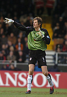 Edwin van der Sar (Fulham) Fulham v Crystal Palace, FA Barclaycard Premiership, 1/01/2005. Credit: Back Page Images / Matthew Impey