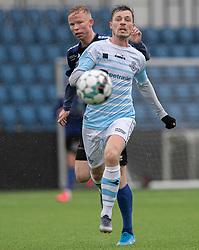 Nicolas Mortensen (FC Helsingør) og Mathias Høst (HB Køge) under træningskampen mellem FC Helsingør og HB Køge den 22. februar 2020 på Helsingør Ny Stadion (Foto: Claus Birch).