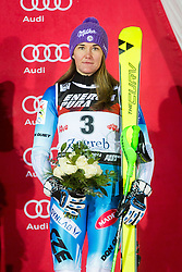 "Sarka Strachova (CZE) during FIS Alpine Ski World Cup 2016/17 Ladies Slalom race named ""Snow Queen Trophy 2017"", on January 3, 2017 in Course Crveni Spust at Sljeme hill, Zagreb, Croatia. Photo by Ziga Zupan / Sportida"