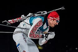 February 18, 2018 - Pyeongchang, Gangwon, South Korea - Andrejs Rastorgujevs of Latvia competing in  15 km mass start biathlon at Alpensia Biathlon Centre, Pyeongchang,  South Korea on February 18, 2018. (Credit Image: © Ulrik Pedersen/NurPhoto via ZUMA Press)