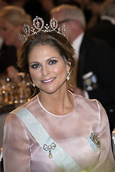 Prinzessin  Madeleine<br /> <br />  <br /> <br />  beim Nobelbankett 2016 im Rathaus in Stockholm / 101216 <br /> <br /> <br /> <br /> ***The Nobel banquet, Stockholm City Hall, December 10th, 2016***