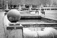 Bellevue, WA Downtown Park canal - bw