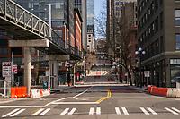 Columbia Street, Downtown (April 4, 2020).