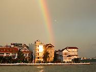 rainbow over west lake hanoi vietnam