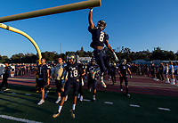 The Elk Grove Thundering Herd come on the to the field before the game as the Elk Grove thundering Herd varsity football team host the Inderkum Tigers,  Friday Aug 25, 2017.<br /> photo by Brian Baer