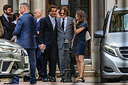 "American actor Johnny Depp leaves the High Court in London, Monday, July 13, 2020. Depp is expected to have wrapped up his evidence at his libel trial against a tabloid newspaper that accused him of abusing ex-wife Amber Heard. The Hollywood star is suing News Group Newspapers, publisher of The Sun, and the paper's executive editor, Dan Wootton, over an April 2018 article that called him a ""wife-beater."" (VXP Photo/ Vudi Xhymshiti)"