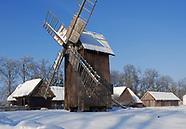 Ciechanowiec. Muzeum Rolnictwa w zimowej szacie