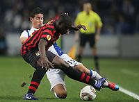 20120216: PORTO, PORTUGAL – UEFA Europa League 2011/2012 - 1/16 Final - 1st Leg: FC Porto vs Man. City.<br /> In photo: TOURE AND JAMES RODRIGUEZ.<br /> PHOTO: PEDRO PEREIRA/CITYFILES