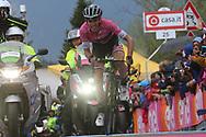 Arrival Simon Yates (GBR - Mitchelton - Scott) pink leader jersey during the 101th Tour of Italy, Giro d'Italia 2018, stage 14, San Vito Al Tagliamento - Monte Zoncolan 181 km on May 19, 2018 in Italy - Photo Ilario Biondi / BettiniPhoto / ProSportsImages / DPPI