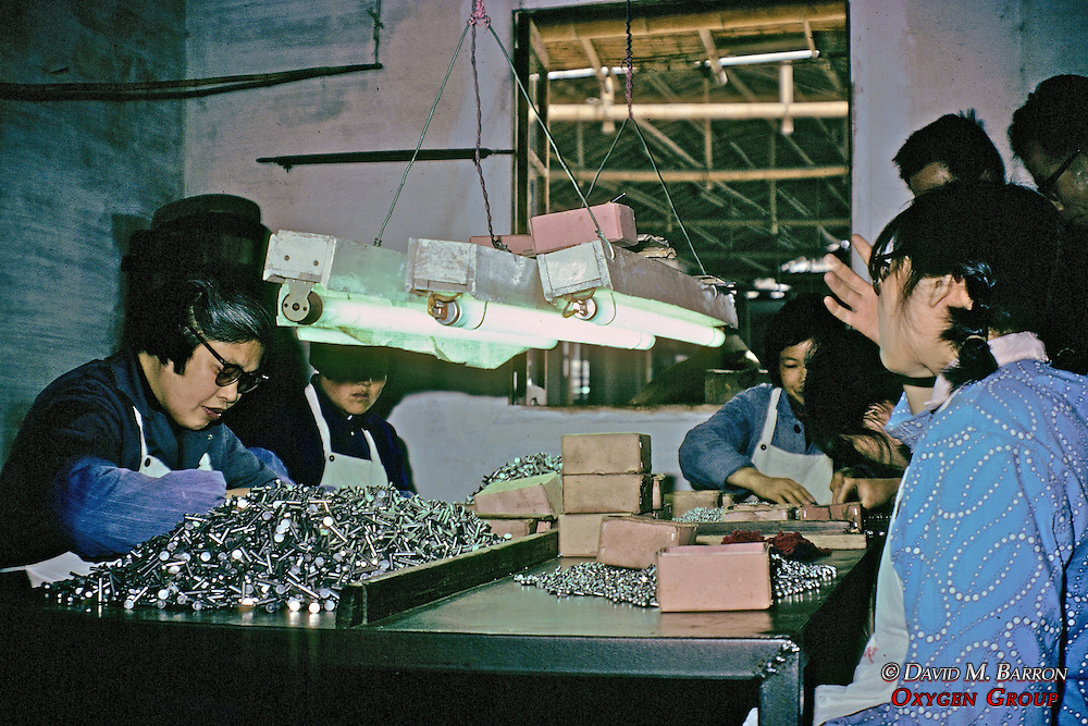 Women At Work At Factory For Disabled