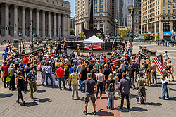 June 10, 2017 - New York, New York, United States - On June 10, 2017; about a hundred people participated on the March Against Sharia organized by ACT for America at Foley Square in New York City as part of similar events in cities across the nation. (Credit Image: © Erik Mcgregor/Pacific Press via ZUMA Wire)