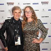 Lawrence David Foldes and Anna Sevastianova attends Raindance Film Festival Gay Times Gala screening - George Michael: Freedom (The Director's Cut) London, UK. 4th October 2018.