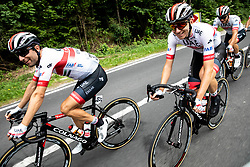 Diego Ulissi (ITA) of UAE Team Emirates and Jan Polanc (SLO) of UAE Team Emirates during 1st Stage of 26th Tour of Slovenia 2019 cycling race between Ljubljana and Rogaska Slatina (171 km), on June 19, 2019 in  Slovenia. Photo by Vid Ponikvar / Sportida