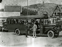 1923 Tour bus at Hollywoodland