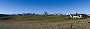 Panoramic view of MacKenzie Country and the Four Peaks Range, New Zealand.