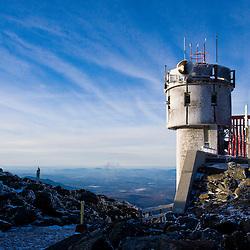 The Mount Washington's Observatory Mount Washington in January.  New Hampshire's White Mountains.
